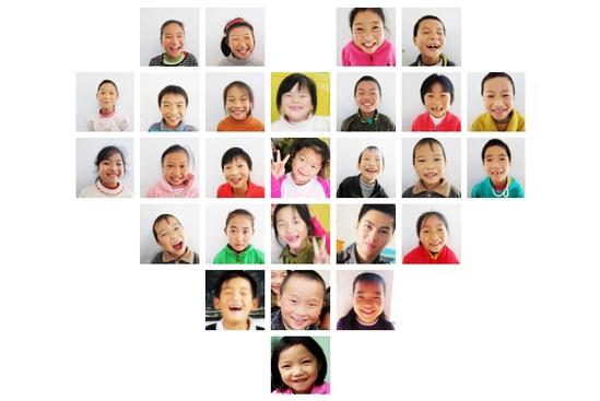 孩子们的笑脸-第四行的.